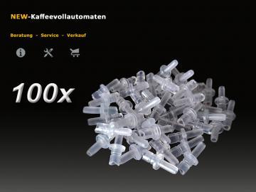 100x Fluid Nippel 72249 zu Milchschlauch Jura