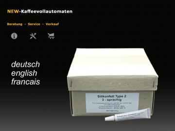 100x Silikonfett Hahnfett 3-sprachig  6g Tube lebensmittelecht