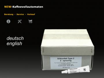 100x Silikonfett Hahnfett 2-sprachig  6g Tube lebensmittelecht