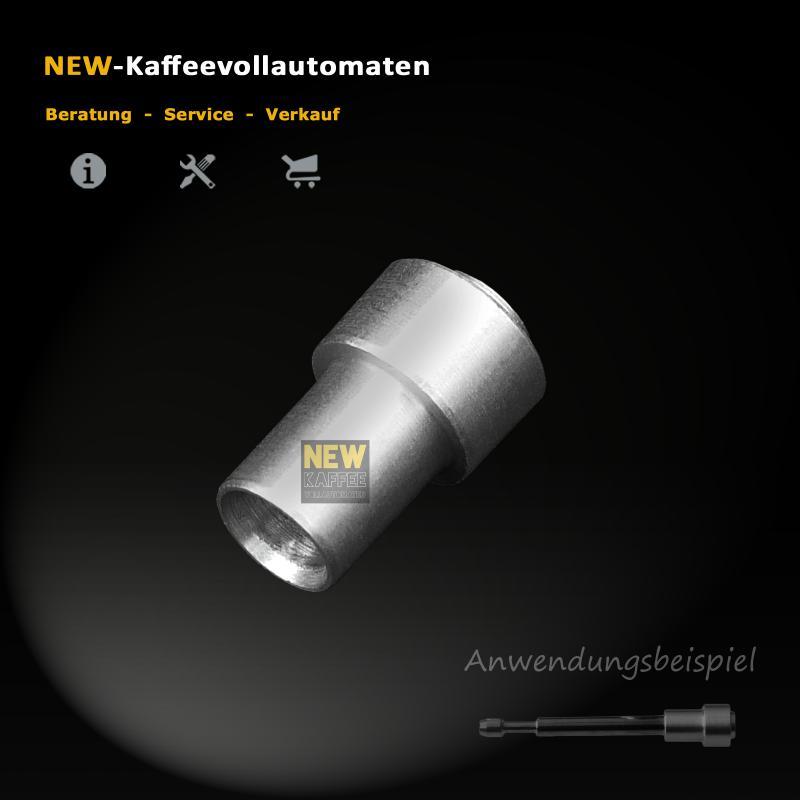 Alu Kappe zu Ventil Stift Drainageventil in Jura Bruehgruppe Kaffeevollautomat