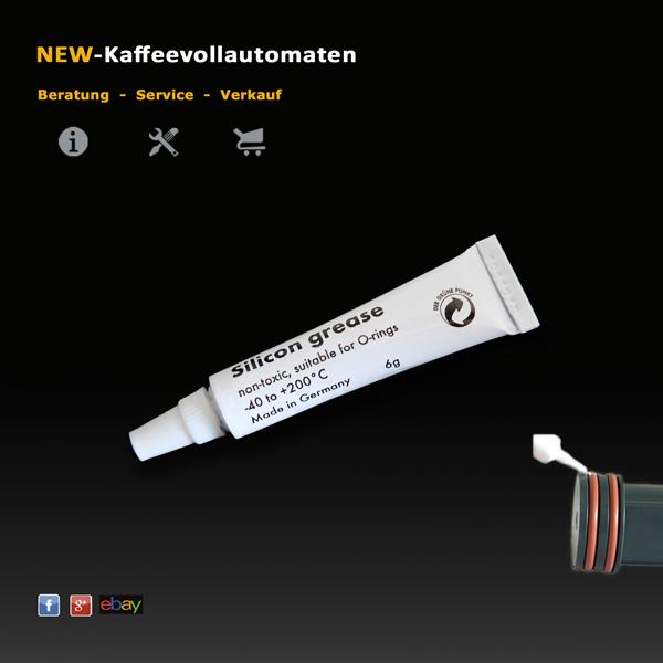 Silikonfett Hahnfett 6g Tube lebensmittelecht zum Schmieren von O-Ringen im Kaffeevollautomat