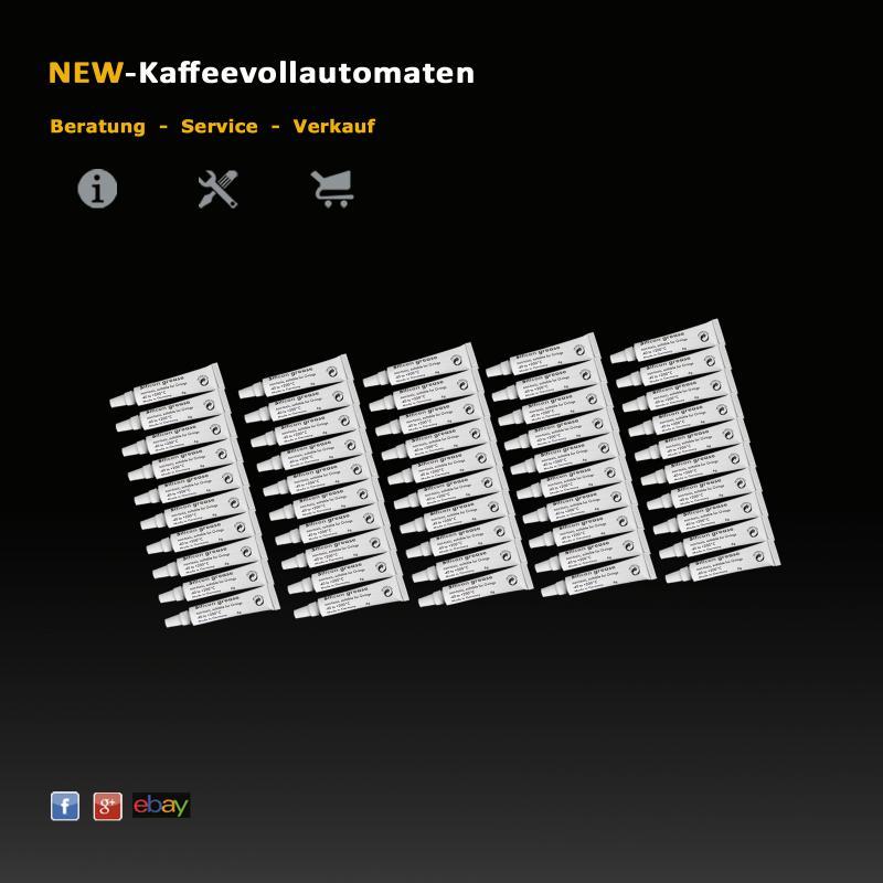 Silikonfett Hahnfett 2-sprachig  6g Tube lebensmittelecht zum Schmieren von O-Ringen Kaffeevollautomat