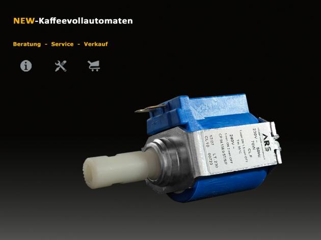 Wasserpumpe Invensys CP4 70W 50Hz 230V zu Siemens Kaffeevollautomat