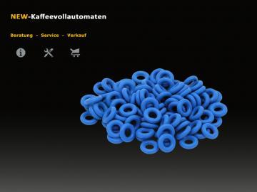 O-Ring Dichtung Viton blau 3,4x1,9 FDA zu Druckschlauch Jura Kaffeevollautomat
