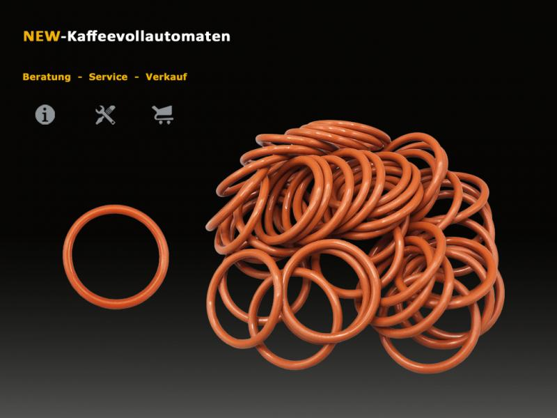 50 pcs Gasket O-Ring for Brew Group in Jura ENA-Micro and A-Series Coffee Machines