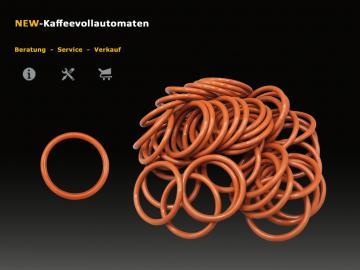 50x O-Ring Dichtung zu Bruehgruppe Jura ENA-Micro und A-Serie Kaffeevollautomat