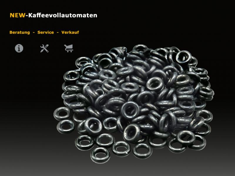 1000x Gasket O-Ring black 3,85x2mm black NBR for PTFE hoses in DeLonghi Coffee Machines