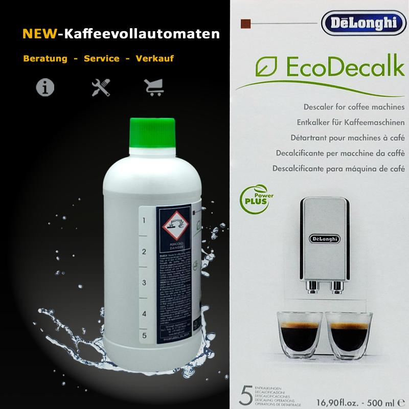 Delonghi Original EcoDecalk Descaler 500ml for Automatic Coffee and Espresso Machines