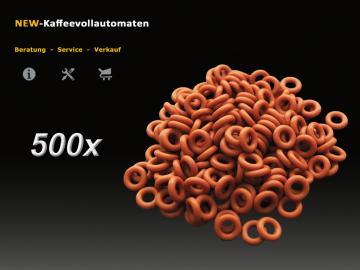 500x Dichtung O-Ring rot zu 4mm Druckschlauch DeLonghi Kaffeevollautomat