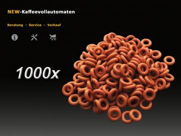 1000x Dichtung O-Ring rot zu 4mm Druckschlauch DeLonghi Kaffeevollautomat
