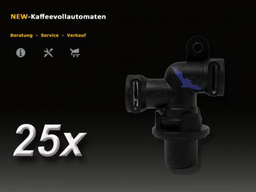 25x Auslaufventil 66289 4 Bar zu Jura AEG Krups Miele Melitta Bosch Siemens Nivona Kaffeevollautomat