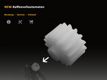 Zahnrad für den Jura Getriebemotor Antriebsmotor