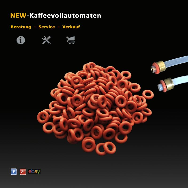 O-Rings red for 4mm PTFE Pressure Hoses in AEG Coffee Machines