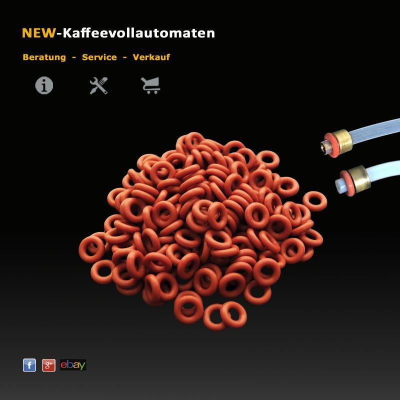 Schlauch Dichtung O-Ring 3,4x1,9mm rot zu Druckschlauch Kaffeevollautomat