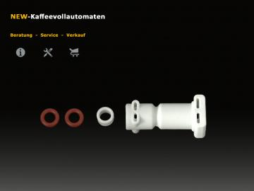 Anschluss zu DeLonghi Thermoblock 5mm Version inkl Distanzstueck und O-Ring