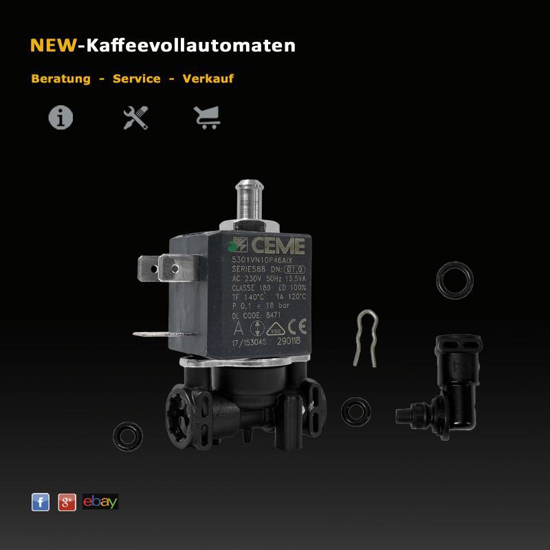 DeLonghi 3 Wege Magnetventil Solenoidventil 3V 18 Bar zu EAM ESAM Kaffeeautomat