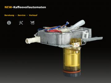 DeLonghi 5513227901 Infusion Piston to Heating Thermoblock 2x600 Watt 5mm Version for ESAM Coffee Machine