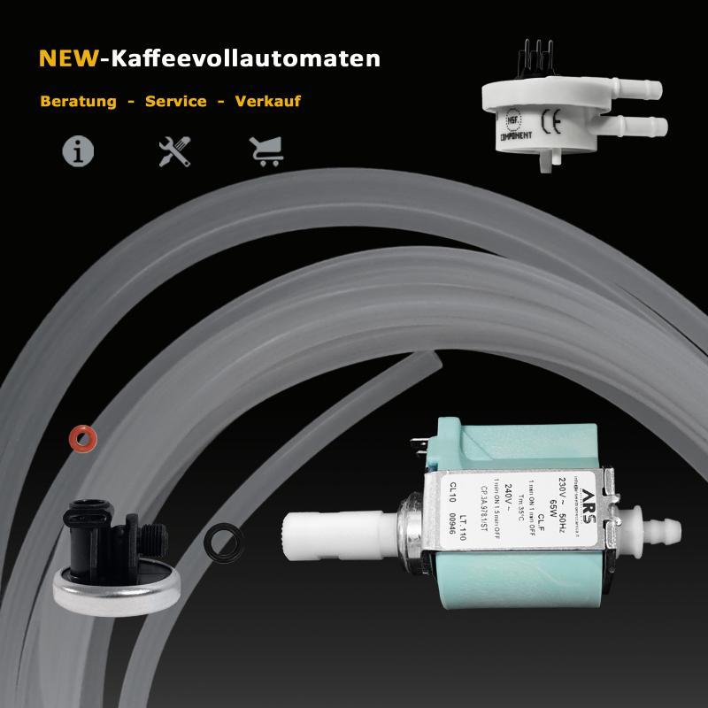 Invensys CP3 Pumpe Membran Dichtungen Schlauch Flowmeter zu Kaffeevollautomat
