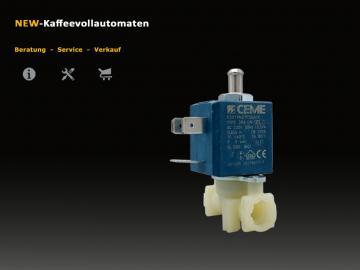 DeLonghi Magnetventil Solenoidventil zu ECAM ETAM Kaffeevollautomat