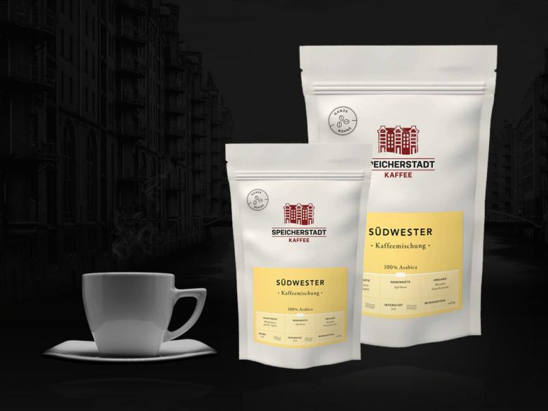 Südwester Kaffeemischung 100% Arabica ganze Bohnen