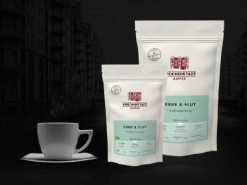 Ebbe & Flut Kaffeemischung 100% Arabica ganze Bohnen