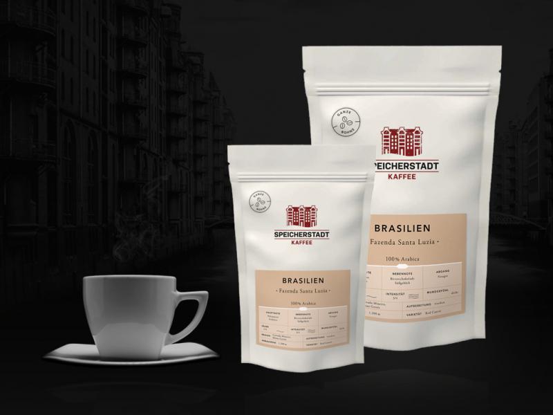 Kaffee Brasilien Fazenda Santa Luzia 100% Arabica ganze Bohnen