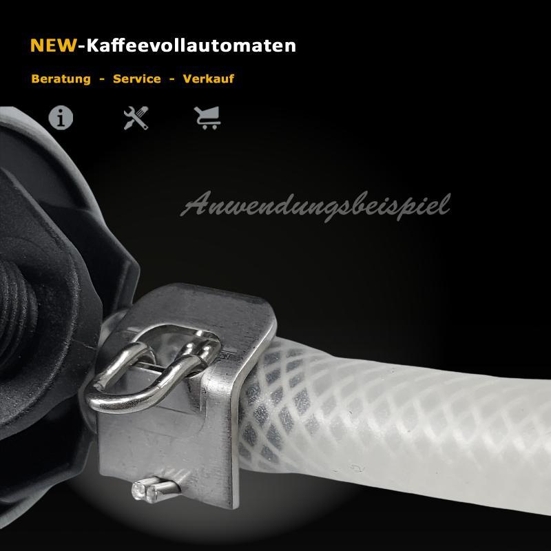 Silikon Gewebeschlauch 4,2x8,2mm zu Jura Kaffeevollautomat