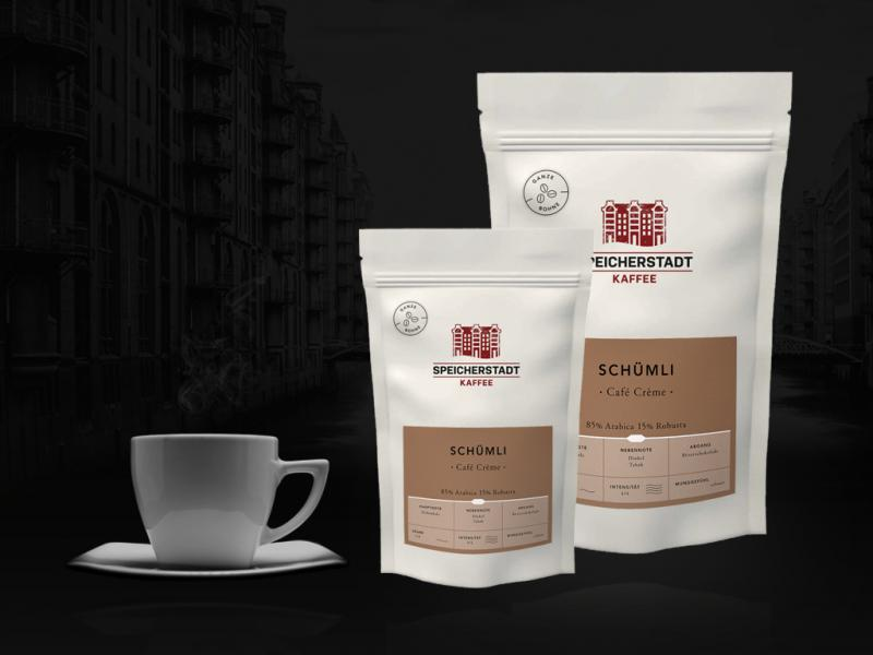 SCHÜMLI CAFE CREME 85% Arabica 15% Robusta ganze Bohnen